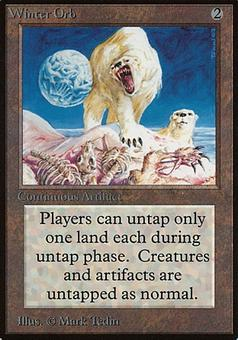Magic the Gathering Beta Single Winter Orb - MODERATE PLAY (MP)