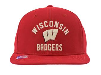 Wisconsin Badgers Top Of The World MY U Red Snapback Hat (Adult One Size)