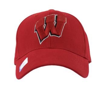 Wisconsin Badgers Top Of The World Floss Red Adjustable Hat (Adult One Size)