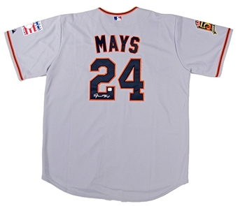 Willie Mays Autographed San Francisco Giants Baseball Jersey (GAI COA)