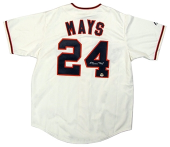 Willie Mays Autographed San Francisco Giants Baseball Jersey (with Name)