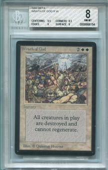 Magic the Gathering Beta Single Wrath of God BGS 8