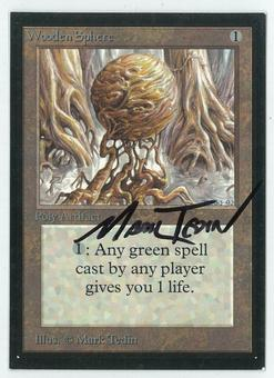 Magic the Gathering Beta Artist Proof Wooden Sphere - SIGNED BY MARK TEDIN