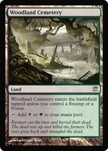 Magic the Gathering Innistrad Single Woodland Cemetery FOIL