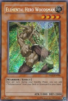Yu-Gi-Oh Premium Pack 2 Single Elemental Hero Woodsman Secret Rare