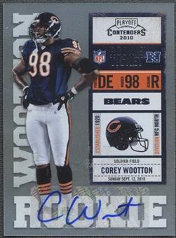 2010 Playoff Contenders #118 Corey Wootton Rookie Autograph