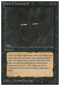 Magic the Gathering Unlimited Single Word of Command - HEAVY PLAY (HP)