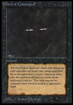 Magic the Gathering Beta Single Word of Command - MODERATE PLAY (MP)