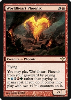 Magic the Gathering Conflux Single Worldheart Phoenix - NEAR MINT (NM)
