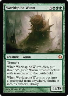 Magic the Gathering Return to Ravnica Single Worldspine Wurm Foil