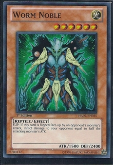Yu-Gi-Oh Hidden Arsenal 2 Single Worm Noble 3x Super Rare