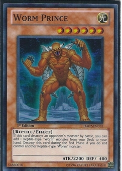 Yu-Gi-Oh Hidden Arsenal 2 Single Worm Prince 3x Super Rare