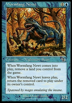 Magic the Gathering Judgment Single Wormfang Newt Foil