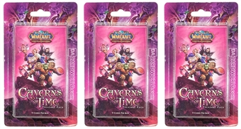 World of Warcraft The Caverns of Time Treasure Booster Pack (Lot of 3 Blisters)