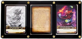 WoW Servants 3 Card Prince Kael'thas Sunstrider Set - Upper Deck Employee Card