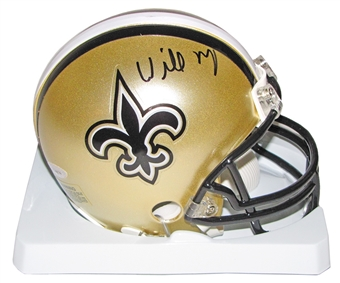 Willie Roaf Autographed New Orleans Saints Mini Helmet (Tristar COA)