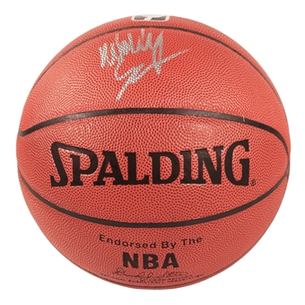 Wally Szczerbiak Autographed Minnesota Timberwolves I/O Spalding Basketball (Press Pass)