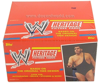 2012 Topps WWE Heritage Wrestling Retail 24-Pack Box