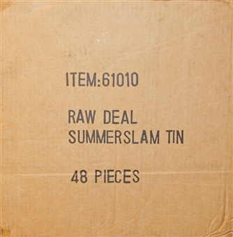 Comic Images WWE Raw Deal Summer Slam Wrestling 48-Booster Tin Case