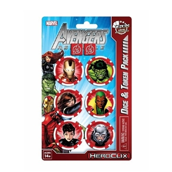 Marvel HeroClix: Avengers Assemble Dice and Token Pack (Iron Man)