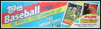 1992 Topps Baseball Factory Set (Christmas Set)