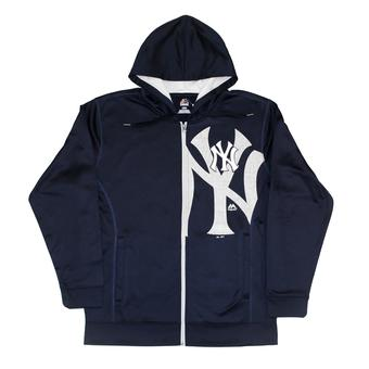 New York Yankees Majestic Navy Bring It Home Full Zip Hoodie