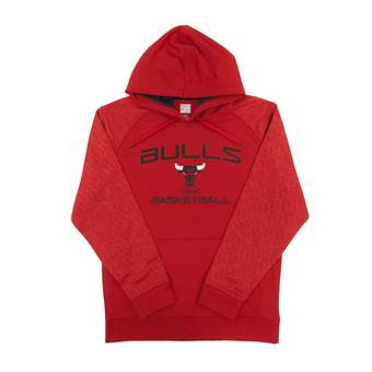 Chicago Bulls Majestic Red Jump Off Performance Fleece Hoodie (Adult M)