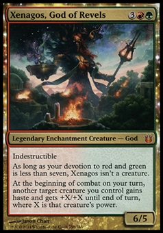 Magic the Gathering Born of the Gods Single Xenagos, God of Revels - SLIGHT PLAY (SP)