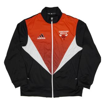 Chicago Bulls Adidas Black & Red Resonate Kinetic Performance Jacket