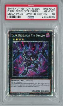 Yu-Gi-Oh! Mega Pack Tin Dark Rebellion XYZ Dragon Secret Rare PSA 10