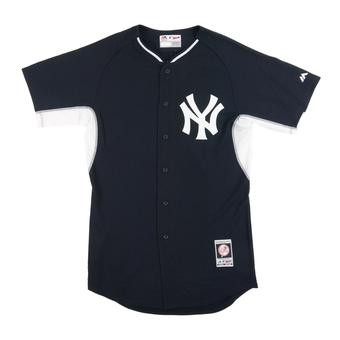 New York Yankees Majestic Navy & White BP Cool Base Authentic Performance Jersey (Adult 48)