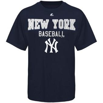 New York Yankees Majestic Navy Kings of Swing T-Shirt (Size Large)