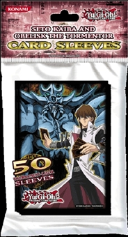 Konami Yu-Gi-Oh Seto Kaiba & Obelisk the Tormentor Card Sleeves 50 Count Pack (Lot of 15)