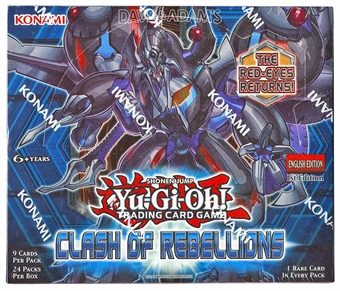 Konami Yu-Gi-Oh Clash of Rebellions 1st Edition Booster Box