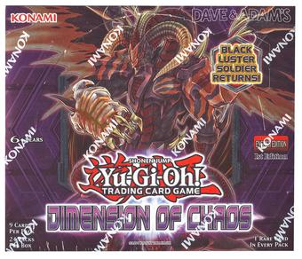 Konami Yu-Gi-Oh Dimensions of Chaos 1st Edition Booster Box