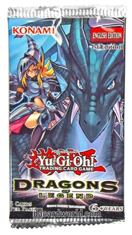 Konami Yu-Gi-Oh Dragons of Legend Booster Pack