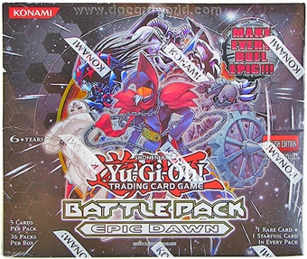 Konami Yu-Gi-Oh Battle Pack Epic Dawn 1st Edition Booster Box
