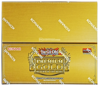 Konami Yu-Gi-Oh Premium Gold: Return of the Bling Booster Box