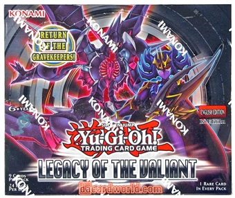 Konami Yu-Gi-Oh Legacy of the Valiant 1st Edition Booster Box