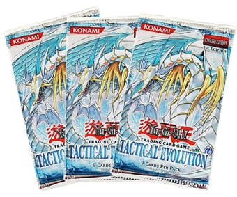 Upper Deck Yu-Gi-Oh Tactical Evolution Booster Pack (Lot of 3)