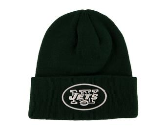 New York Jets '47 Brand Green Raised Cuff Knit Winter Hat (Adult One Size)