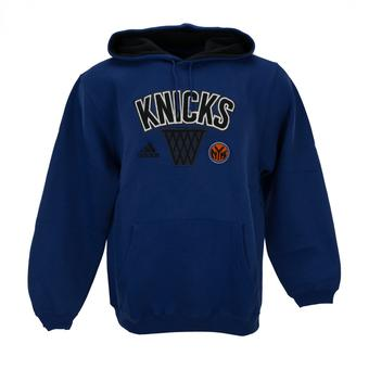 New York Knicks Adidas Blue Playbook Fleece Hoodie (Adult M)