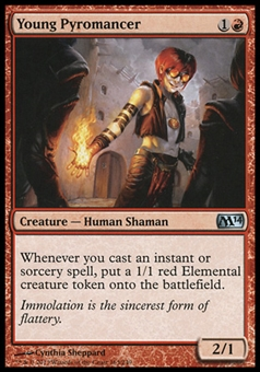 Magic the Gathering 2014 Single Young Pyromancer FOIL - SLIGHT PLAY (SP)