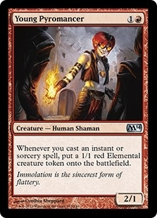 Magic the Gathering 2014 Single Young Pyromancer Foil