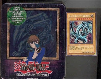 Upper Deck Yu-Gi-Oh 2003 Holiday Blue Eyes White Dragon Tin