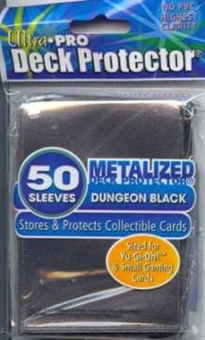 Ultra Pro Yu-Gi-Oh! Size Dungeon Black Deck Protectors 50 Count Pack