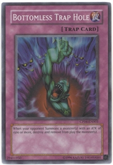 Yu-Gi-Oh Champion Pack 4 Single Bottomless Trap Hole Super Rare