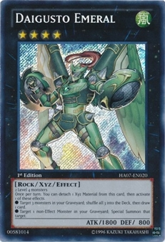 Yu-Gi-Oh Hidden Arsenal 7 Single Daigusto Emeral Secret Rare