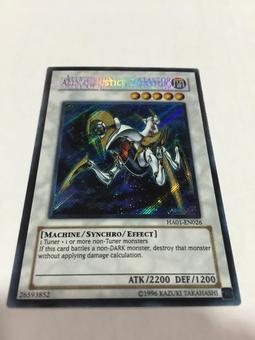 Yu-Gi-Oh Hidden Arsenal 1 Single Ally of Justice Catastor Secret Rare TRIPLE NAME STAMP MISPRINT