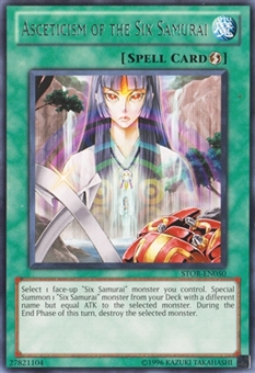 Yu-Gi-Oh Storm of Ragnarok Single Asceticism of the Six Samurai Rare 1st Edition